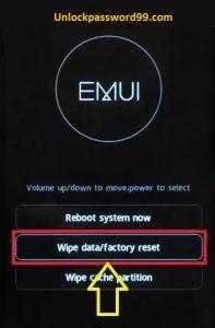 wipe data factory reset option